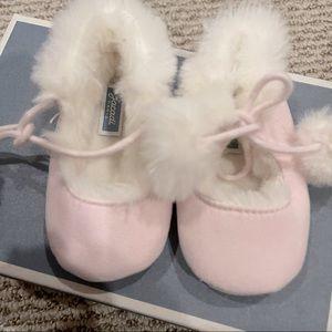 Jacadi Pale Pink Baby Girl Slippers